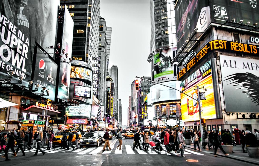 Il caos metropolitano di Times Square