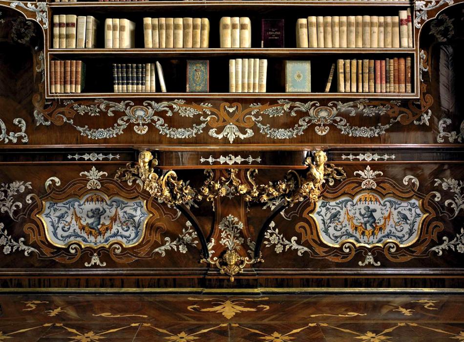 La biblioteca del Piffetti al Palazzo del Quirinale
