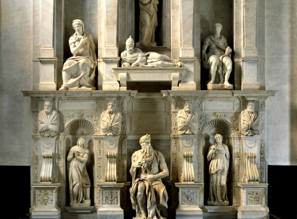 """La più grande angoscia del """"divino"""" Michelangelo Buonarroti: la """"Tomba di Giulio II"""""""