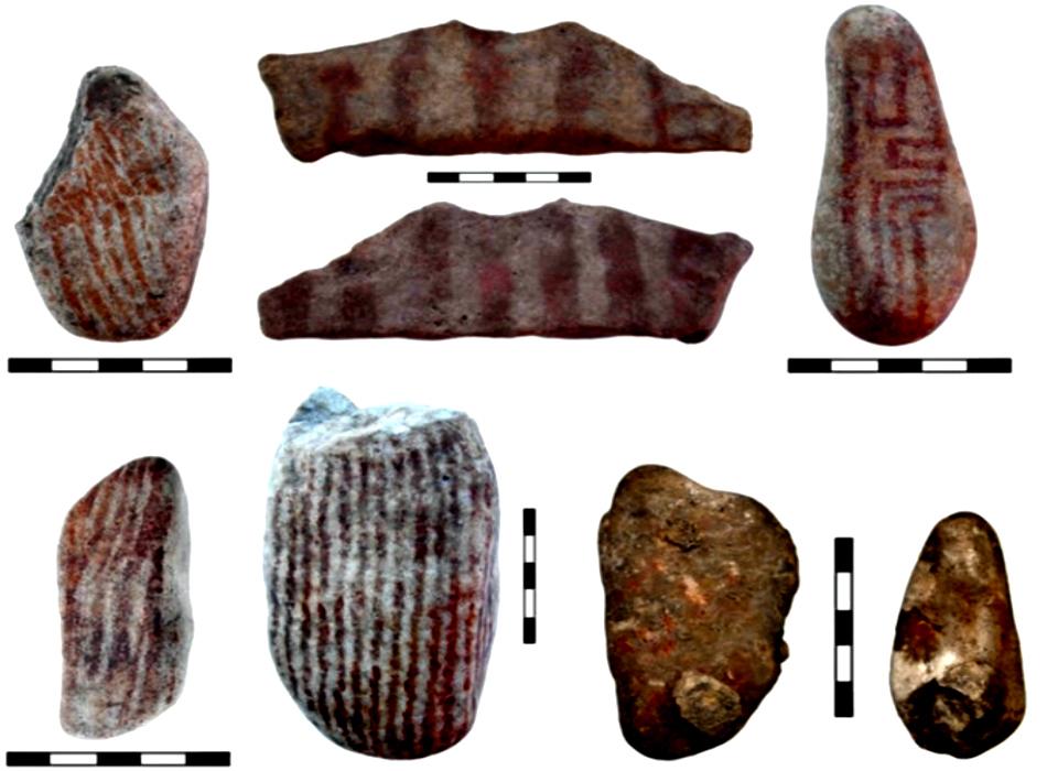 Uso quotidiano e uso simbolico dell'ocra nel sito paleolitico di Grotta Continenza